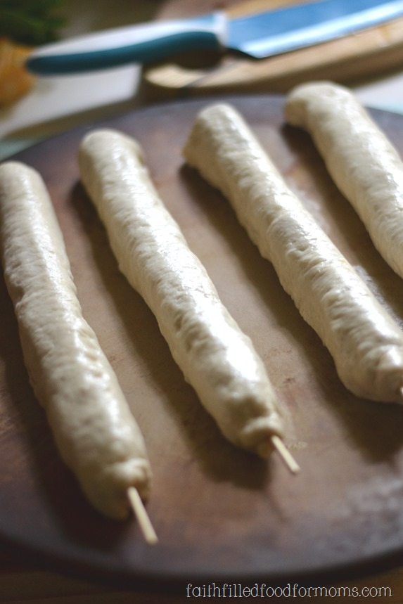 Homemade Foot Long Hot Dogs
