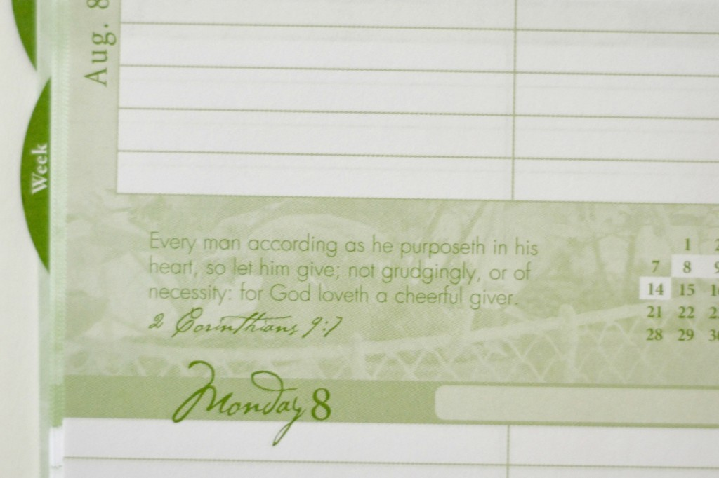 Daily Planner Scripture