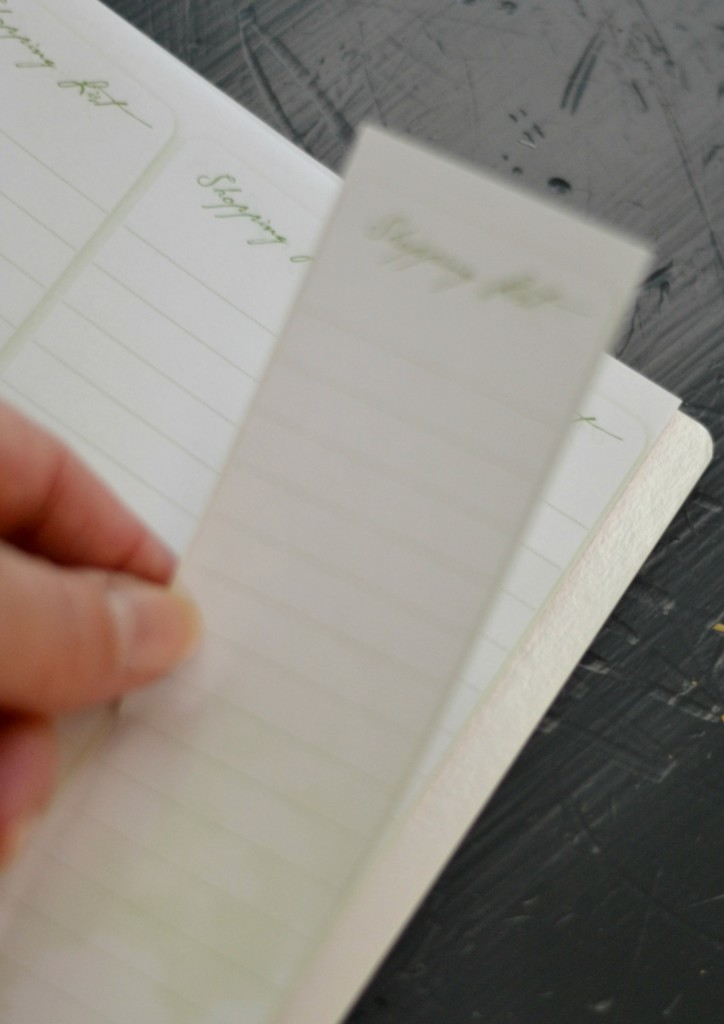 Daily Planner shopping list