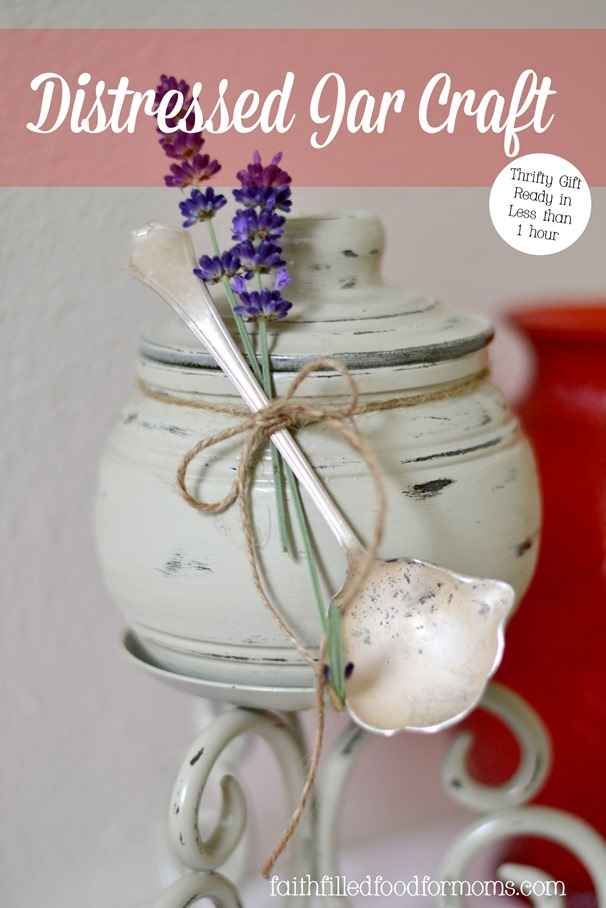 Easy DIY Distressed Jar Craft