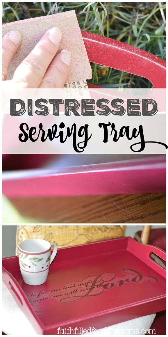 Distressed Serving Tray