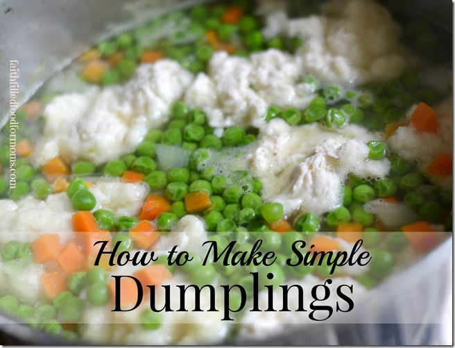 how to make dumplings with flour