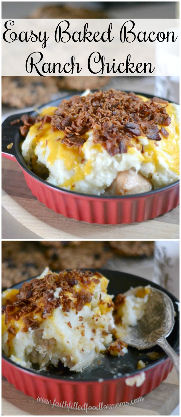 Easy Cheesy Baked Bacon Ranch Chicken
