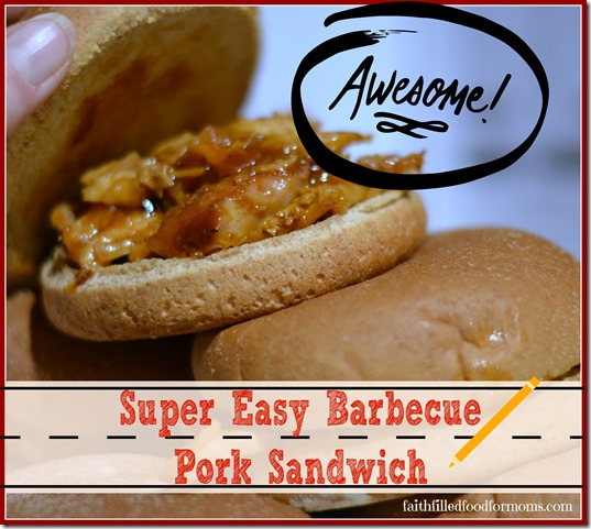 Easy Barbecue Pork Sandwich