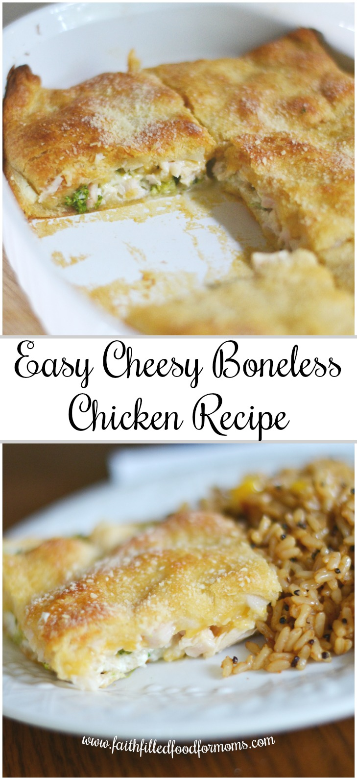 Easy Cheesy Layered Chicken Breast Recipe _ so easy and healthy, kids love it!