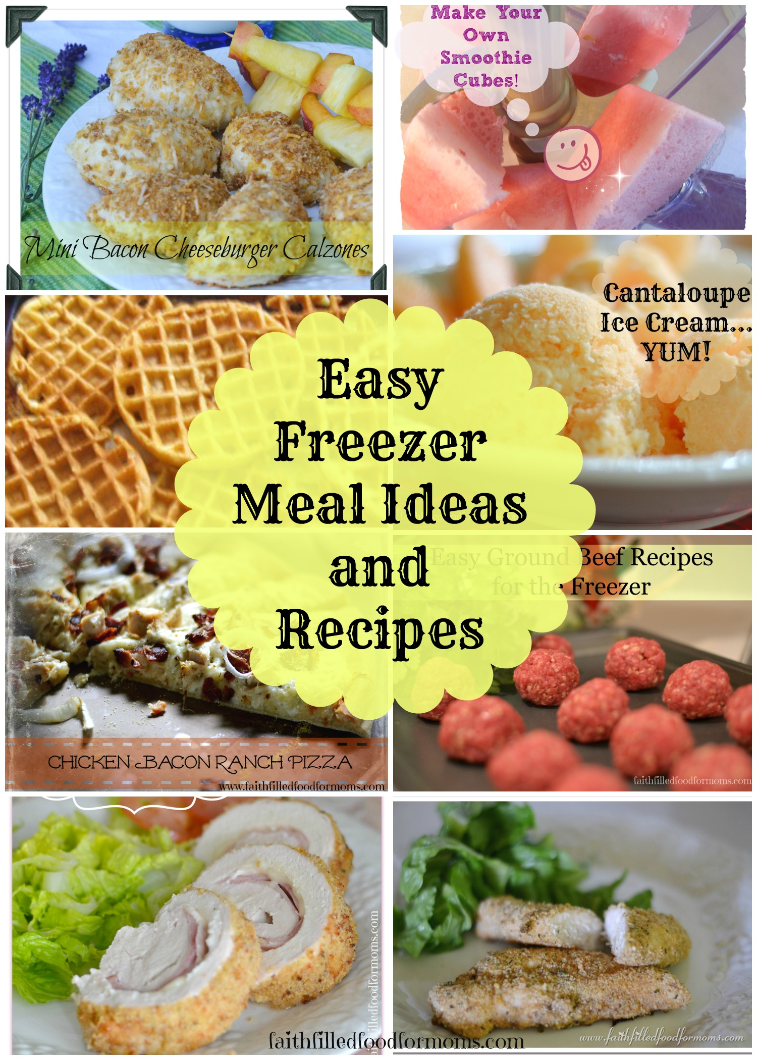 Easy Freezer Meal Ideas And Recipes • Faith Filled Food