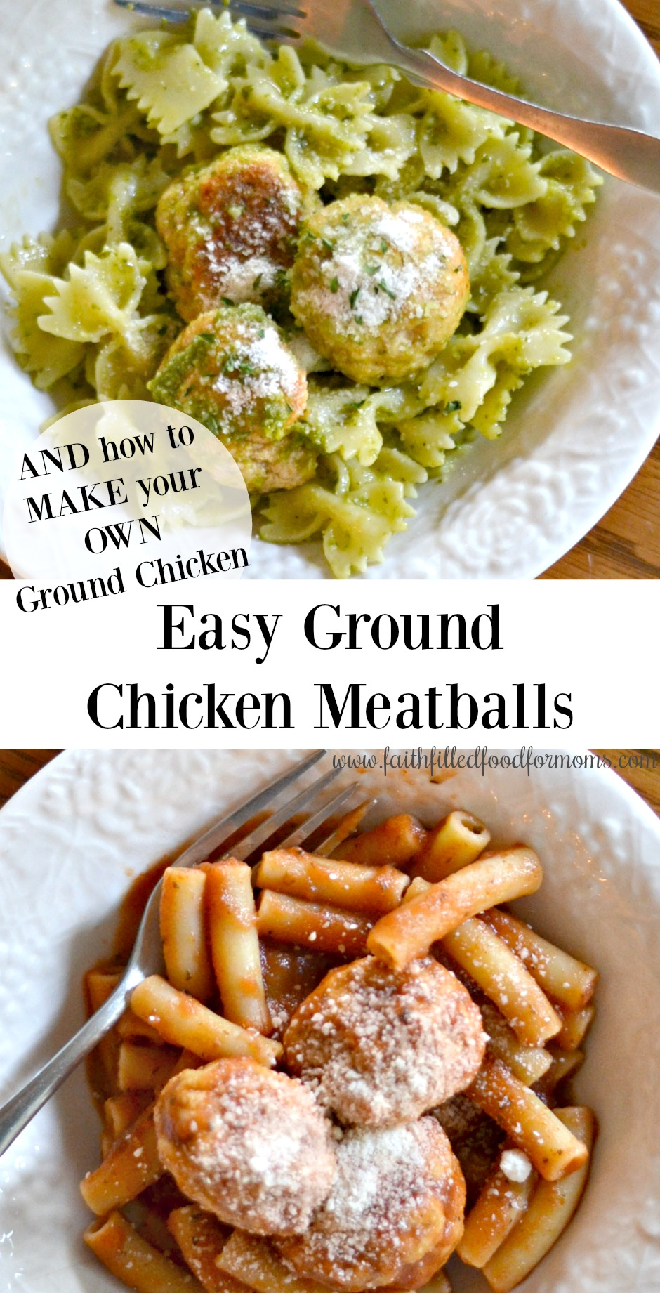 Easy Ground Chicken Meatballs Recipe