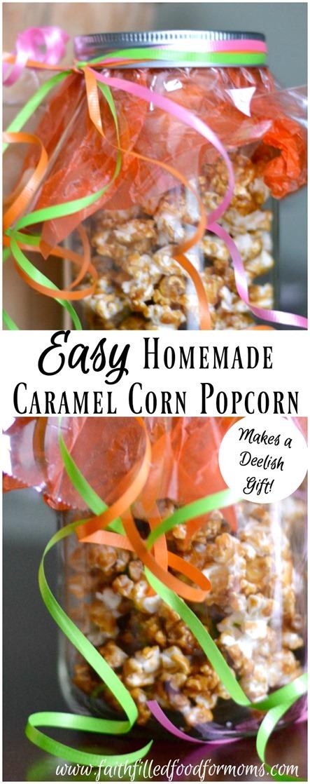 Easy Homemade Caramel Corn Popcorn