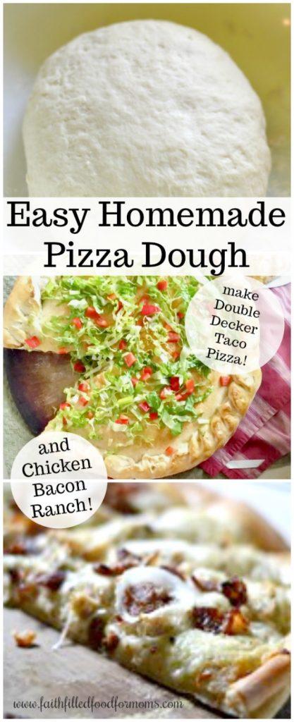 Easy Homemade Basic Pizza Dough Recipe