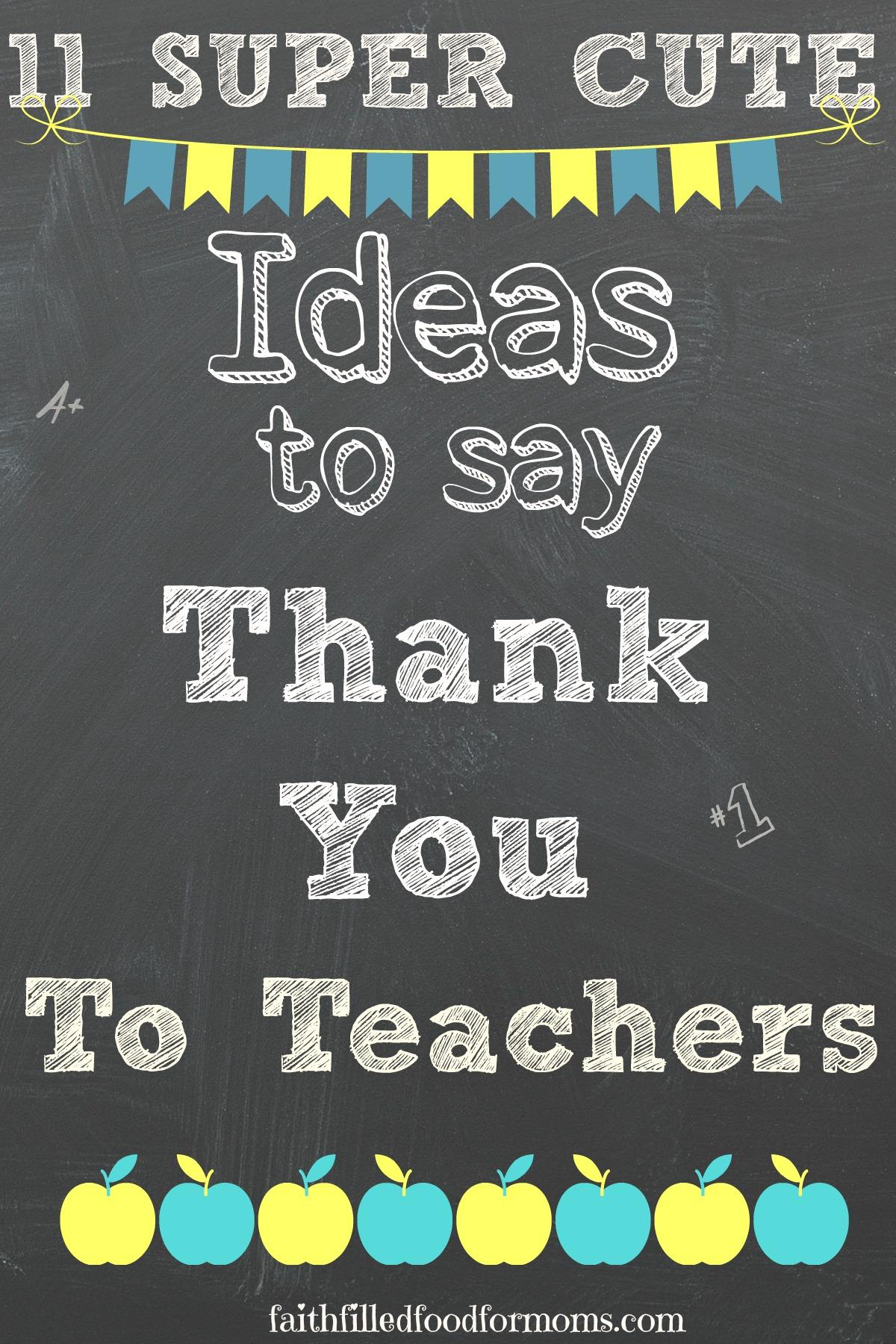 Easy Homemade Teacher Appreciation Craft Ideas