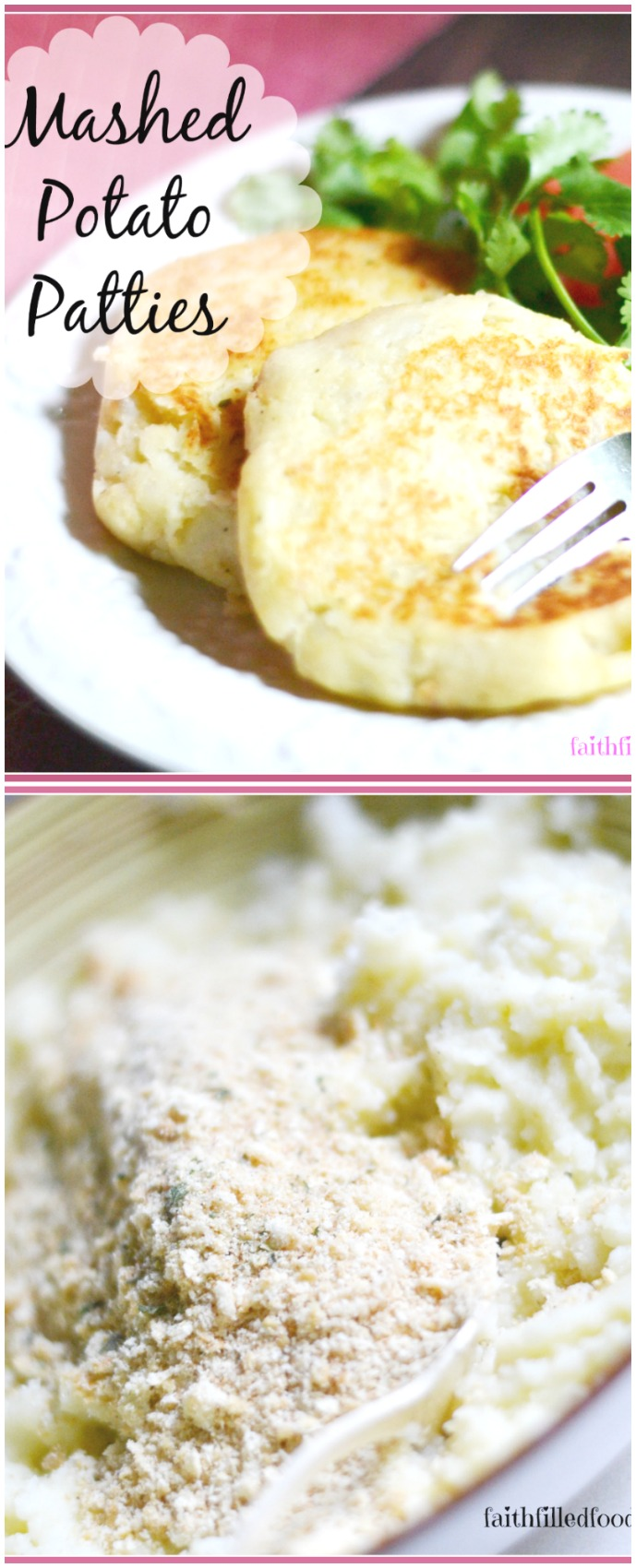 Easy Leftover Mashed Potato Cakes 4 ingredients!