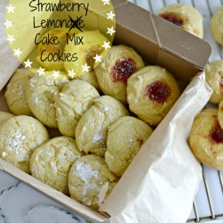 Easy Strawberry Lemon Cake Mix Cookies