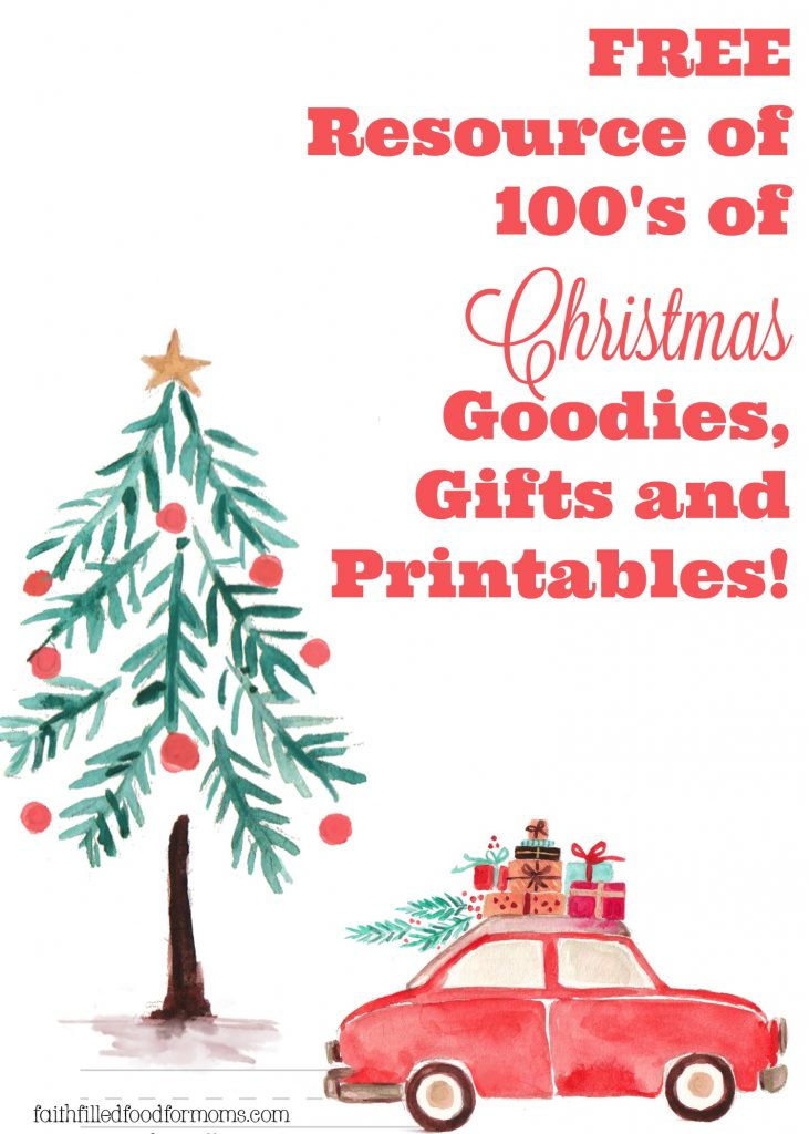 FREE Resource of 100's Christmas Goodies, Gifts and Printables!