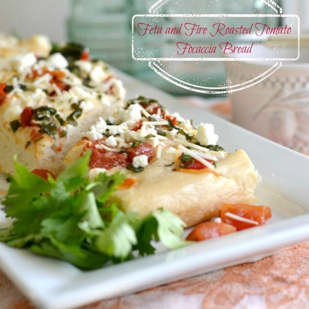 Feta and Fire Roasted Tomato Focaccia Bread