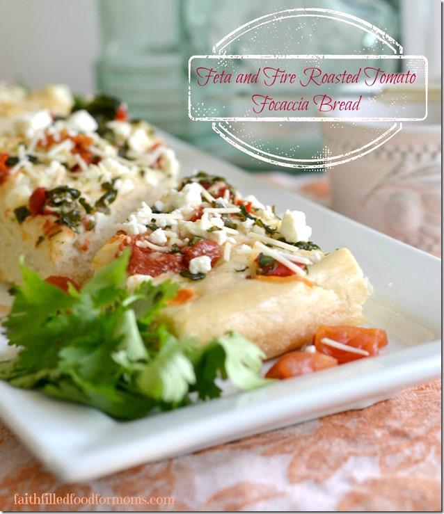 Feta and Fire Roasted Focaccia Bread #DinnerDone