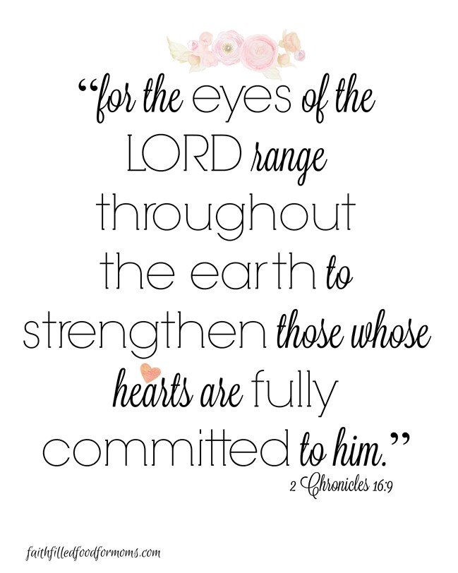 For the eyes of the Lord