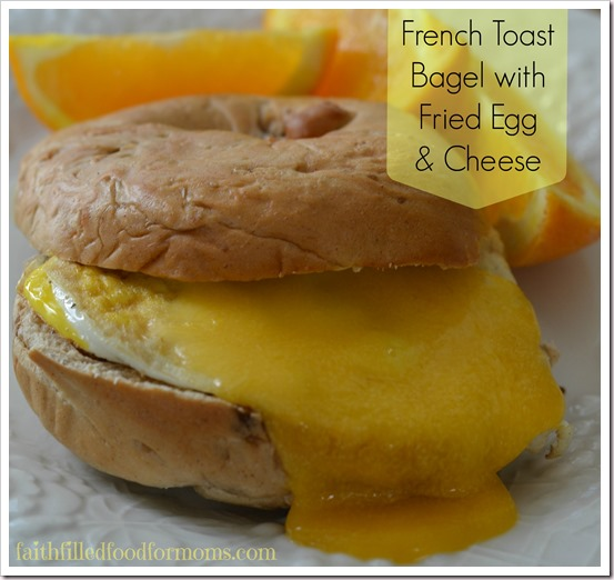 Franz French Toast Bagel with Egg and Cheese