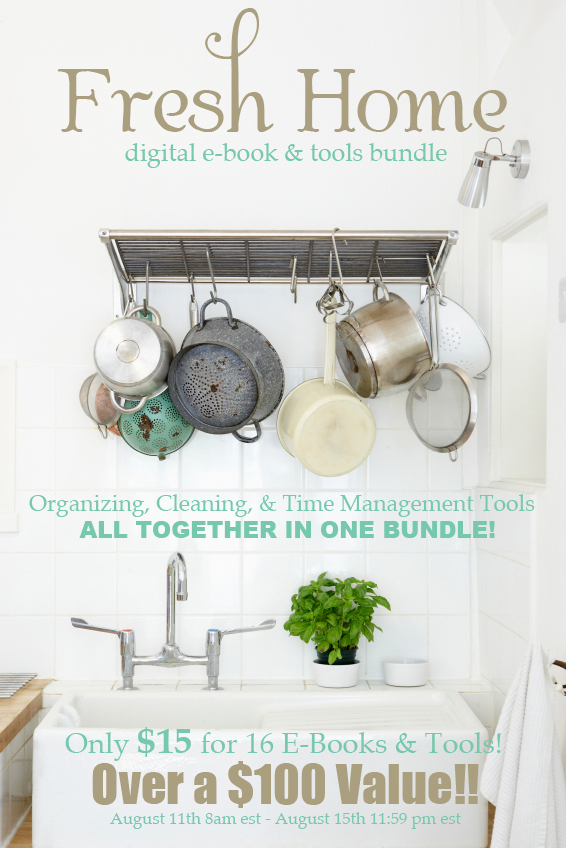 The Fresh Home Ebook Bundle Super Sale-Organizing, Cleaning and Time Management!
