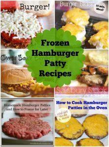 Easy Frozen Hamburger Patty Recipes