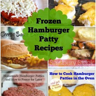 Frozen Hamburger Patty Recipes