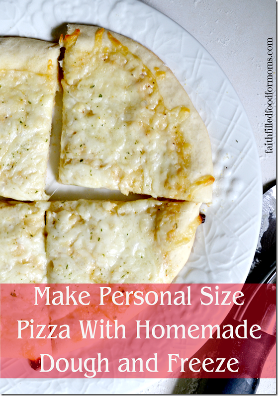 FROZEN PERSONAL SIZE PIZZA WITH HOMEMADE DOUGH