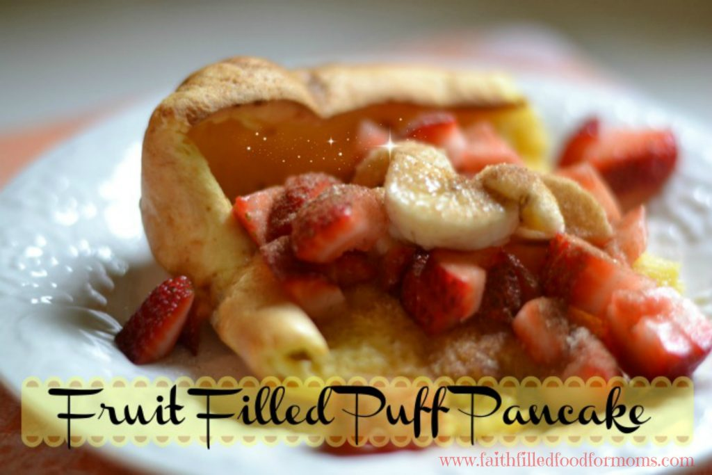Fruit Filled Puff Pancake