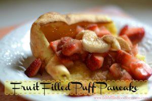 Fruit Filled Puff Pancake