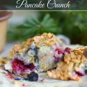 Super easy fruit and berry breakfast crunch! Can be whipped up and made in minutes and then can bake while you go about your business. Yummy for company and kids LOVE IT!