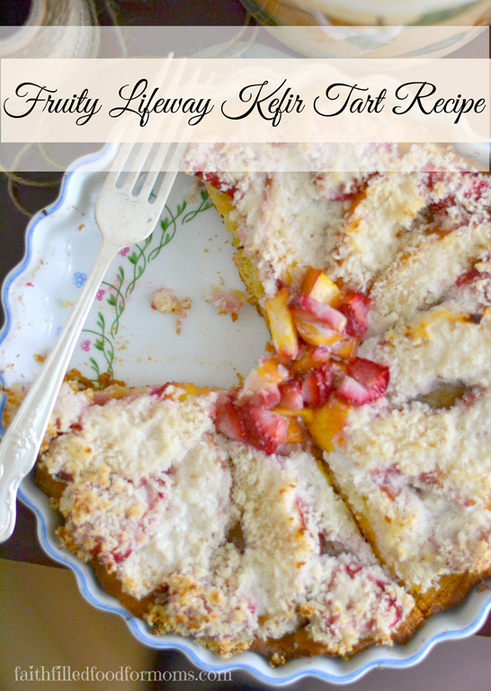I love to pack nutrition in anyway I can! This Fruity Kefir Tart Recipe is sweet, tangy and oh so filling. The kids love it and it's quick and easy!
