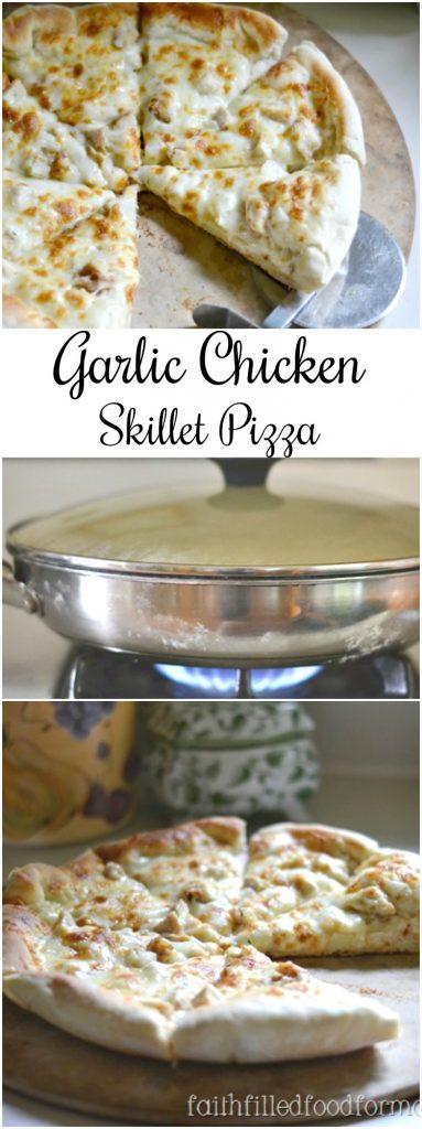 Garlic Chicken Skillet Pizza