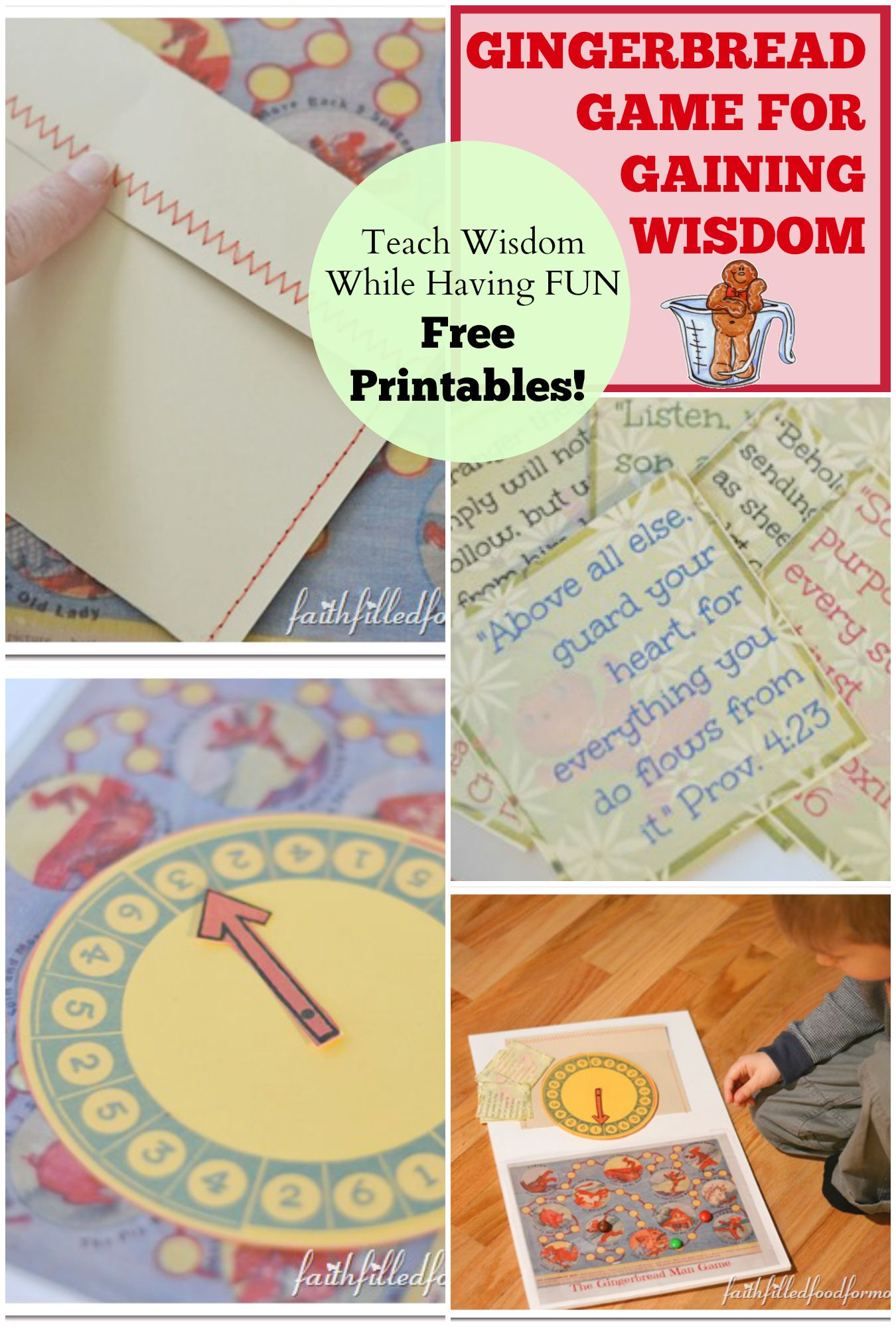 Diy Gingerbread Game For Gaining Wisdom Faith Filled Food
