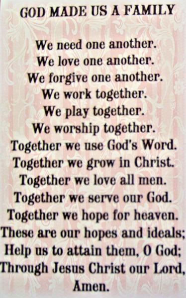 God Made Us a Family