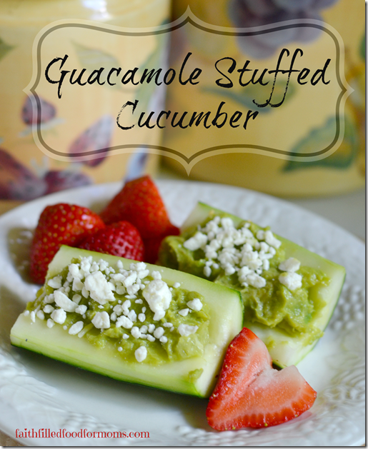 Guacamole Stuffed Cucumber