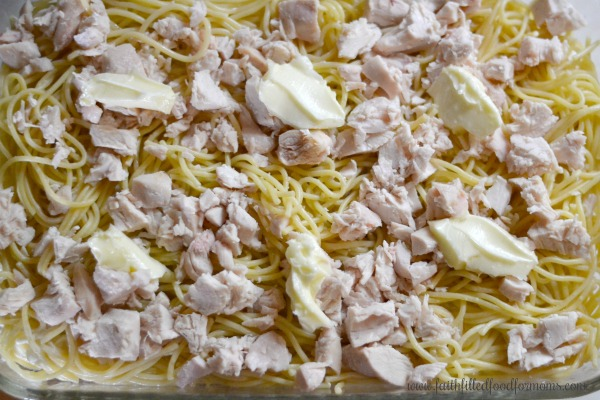 Creamy Baked Million Dollar Chicken Spaghetti