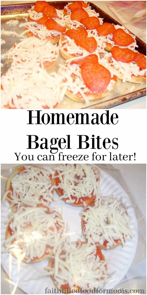 Homemade Bagel Bites you can freeze for later! Save Money and Time. Easy kid friendly snack
