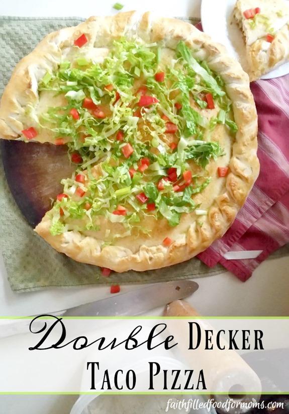 Homemade Double Decker Taco Pizza