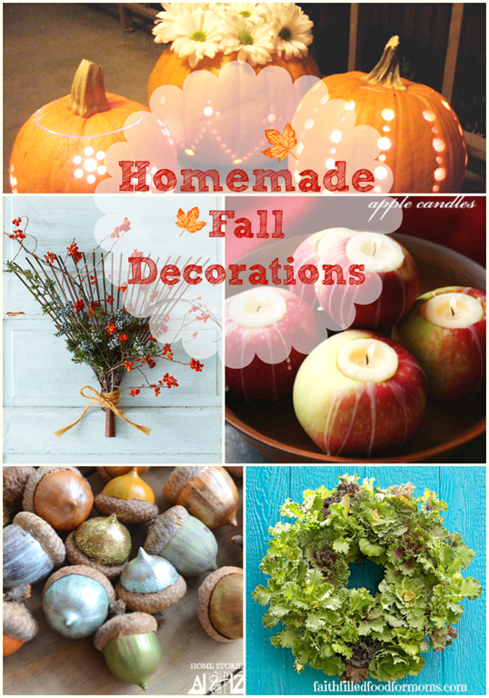 Homemade fall decorations faith filled food for moms