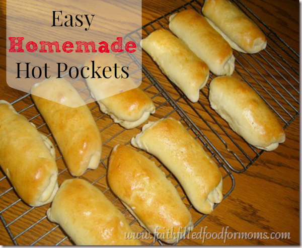 Easy Homemade Garlic Chicken Hot Pockets