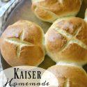 Homemade Kaiser Rolls