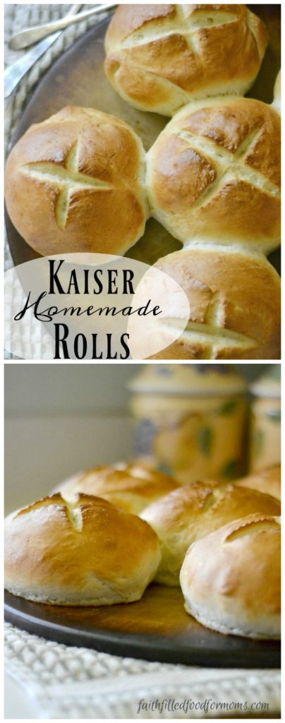 Homemade Kaiser Rolls! Great for burgers, sloppy joes and freeze super well!
