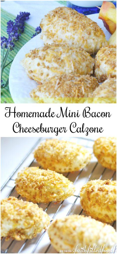 Homemade Mini Bacon Cheeseburger Calzone Recipe! Oh so delicious!