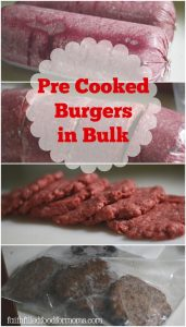 Homemade Pre Cooked Burgers to Freeze