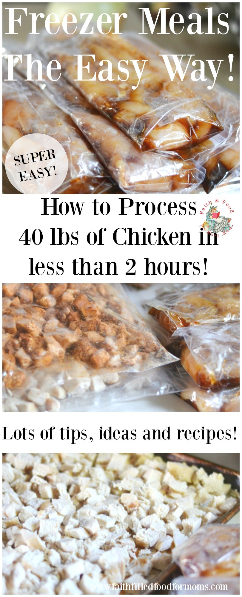 How to process 40 lbs of chicken