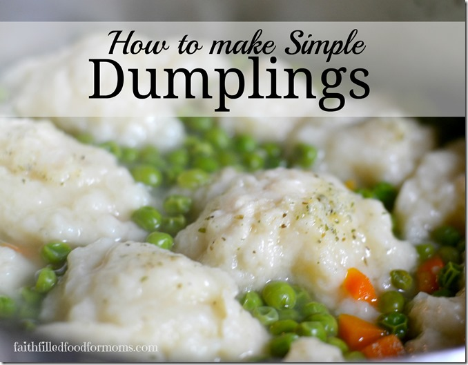 how to cook homemade dumplings