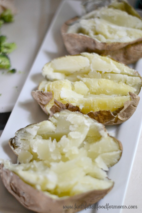 Healthy Cheesy Chicken Broccoli Baked Potato Topping Recipe