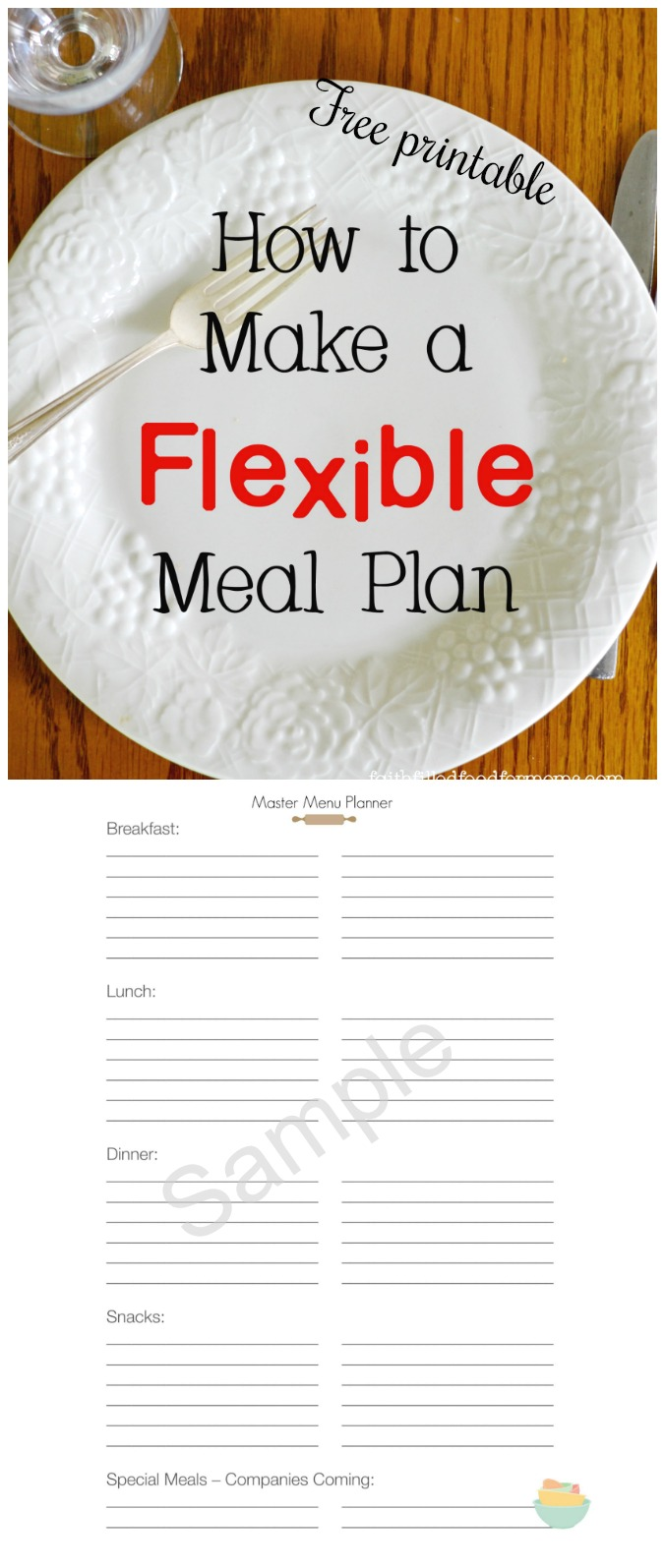 Flexible Meal Planner with Free Printable