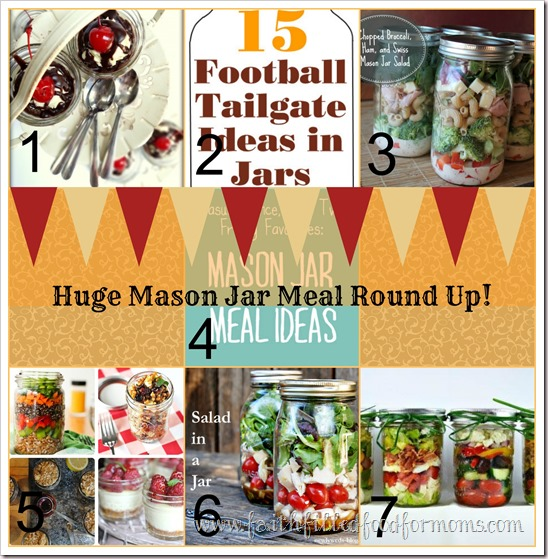 Huge Mason Jar Meal Round Up