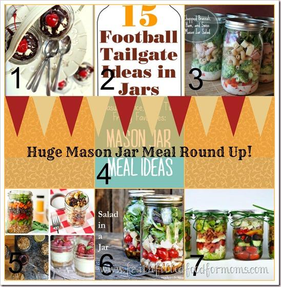 Huge Mason Jar Meal Round Up