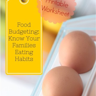 Food Budgeting: Know Your Families Eating Habits
