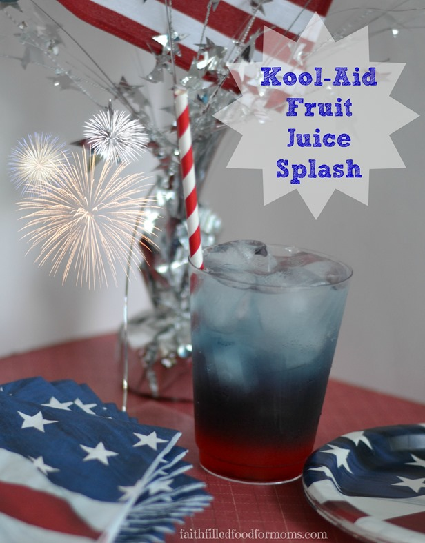 #KoolOff 4th of July Kool-Aid Fruit Juice Splash